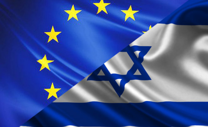 EU-Israel flags