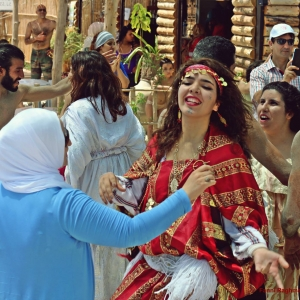 "Berber dancers part of the local ""Media and Culture for Development in the Southern Mediterranean Region"" programme"