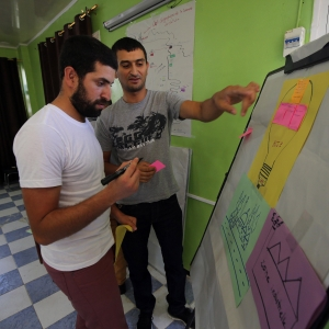 Participants discussing the specific assets of their villages and the values of the local associations in Bejaia.
