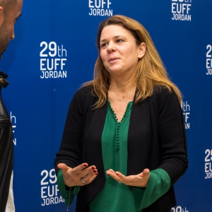 French producer Stéphanie Schorter interviewed during the European Film Festival