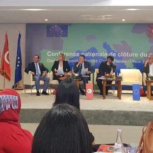 Civil Society-Tunisia-EU tripartite dialogue project comes to an end