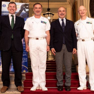 EU maritime mission held meeting to improve mutual understanding and cooperation in Central Mediterranean Sea
