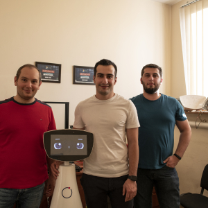 Armenian entrepreneurs ready to bring their robot assistant to the market thanks to the support of the European Union