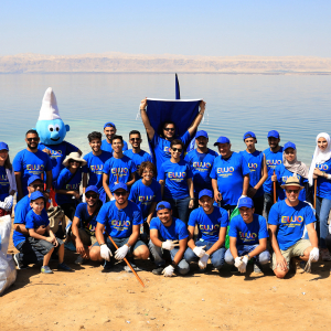 European Union in Jordan participates in global clean-up campaign