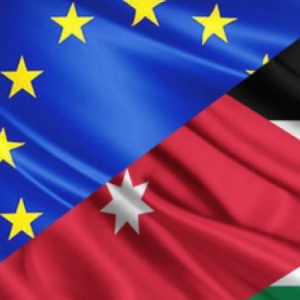 EU-Jordan flags