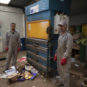 Green Centre in Azraq refugee camp: Syrian refugees clear the streets for a brighter future