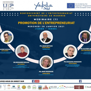 Erasmus+ Yabda project : Series of webinars to reinforce entrepreneurship in Maghreb countries