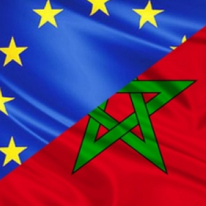 EU-Morocco flags