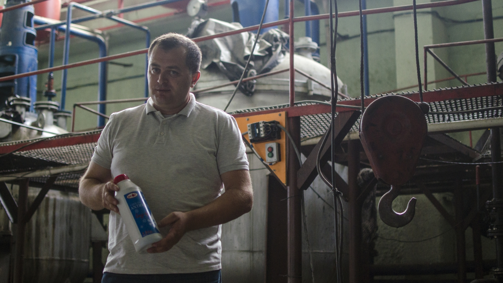 Once a doctor, 41 year-old Avto Jvarsheishvili left his former profession behind a few years ago and took over an oil production company called EcOil