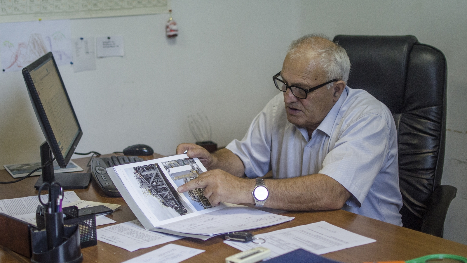 Gela Iakobashvili, the head of Azot's technical division has spent almost 40 years at the Azot factory