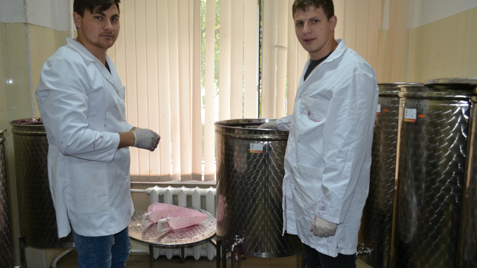 Students of the Oenology Department and Micro Winemaking Unit of the Technical University of Moldova