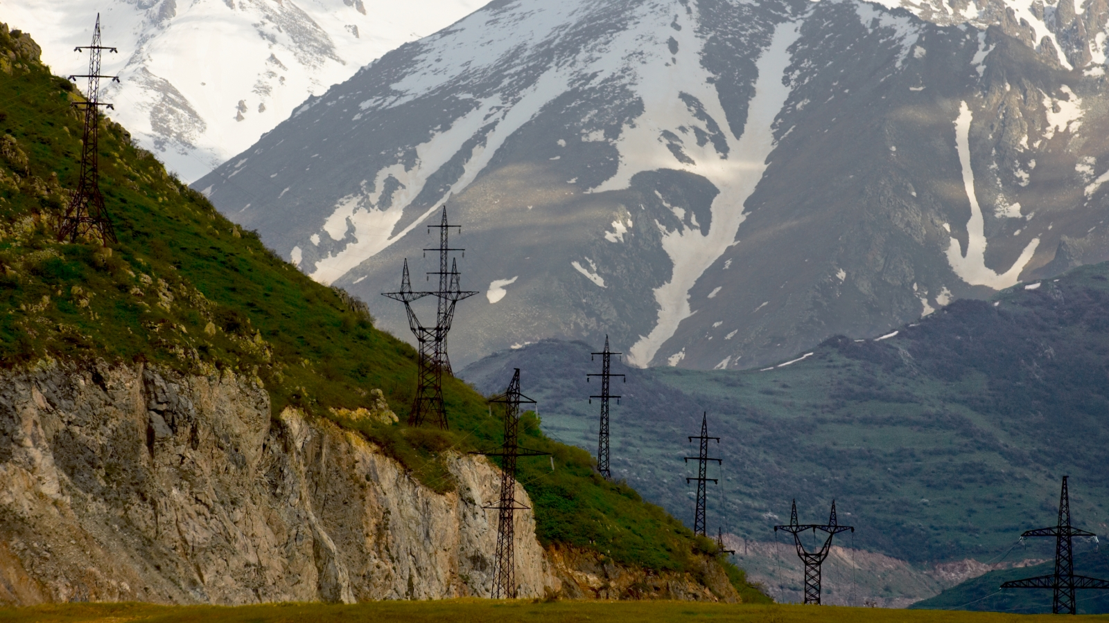 High voltage electricity lines in Armenia. Shutterstock photo