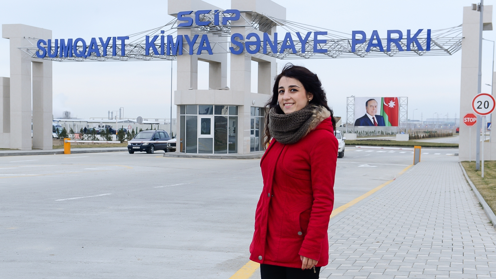 Irana Alimova at chemical industrial park in the city of Sumqayit