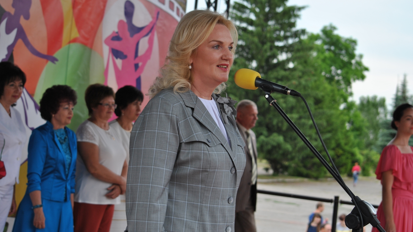 Halyna Minayeva, mayor of Chuhuyiv (the photo has been provided by Chuhuyiv city administration)