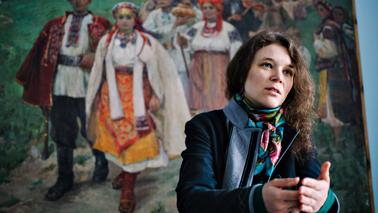 Myroslava Vertyuk, coordinator of the 'Polyphony' project in Ukraine