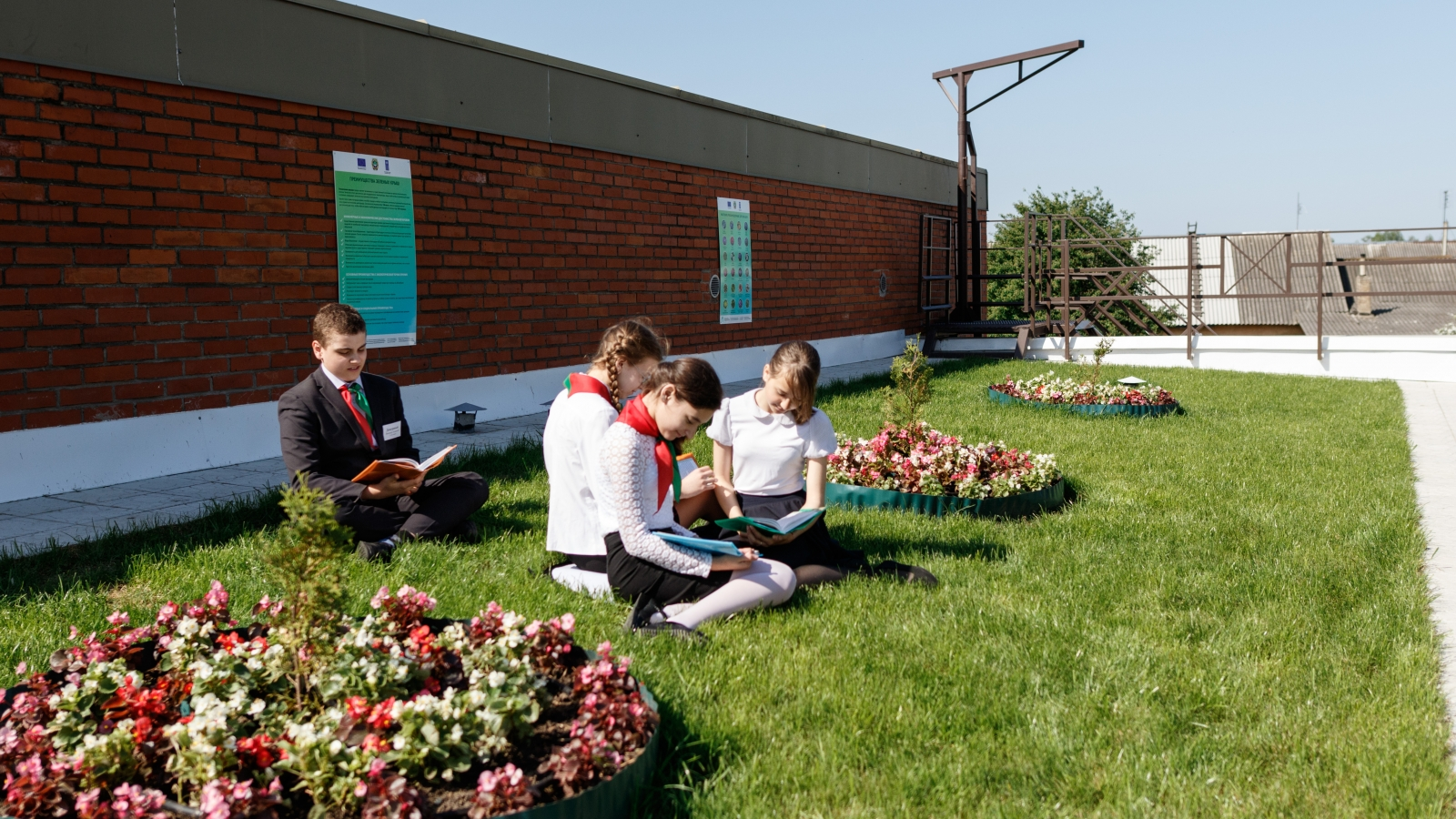 A high school in the town of Marjina Horka recently installed a green roof
