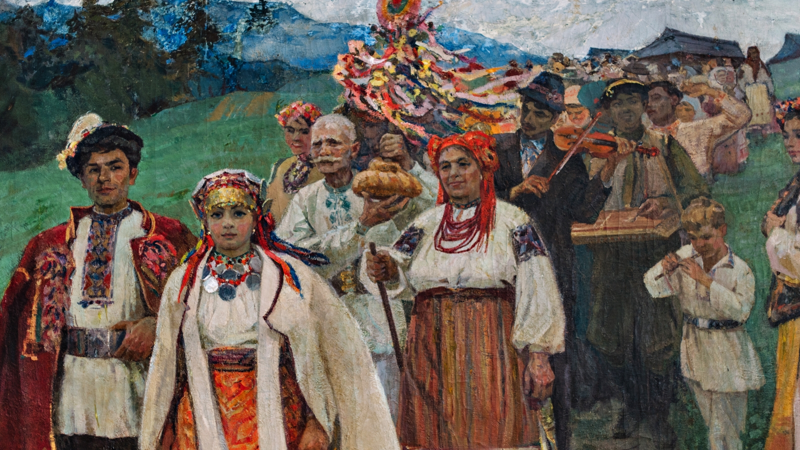 Painting at the museum of the Ukrainian culture and folk art named after Ivan Honchar (Kyiv, Ukraine)