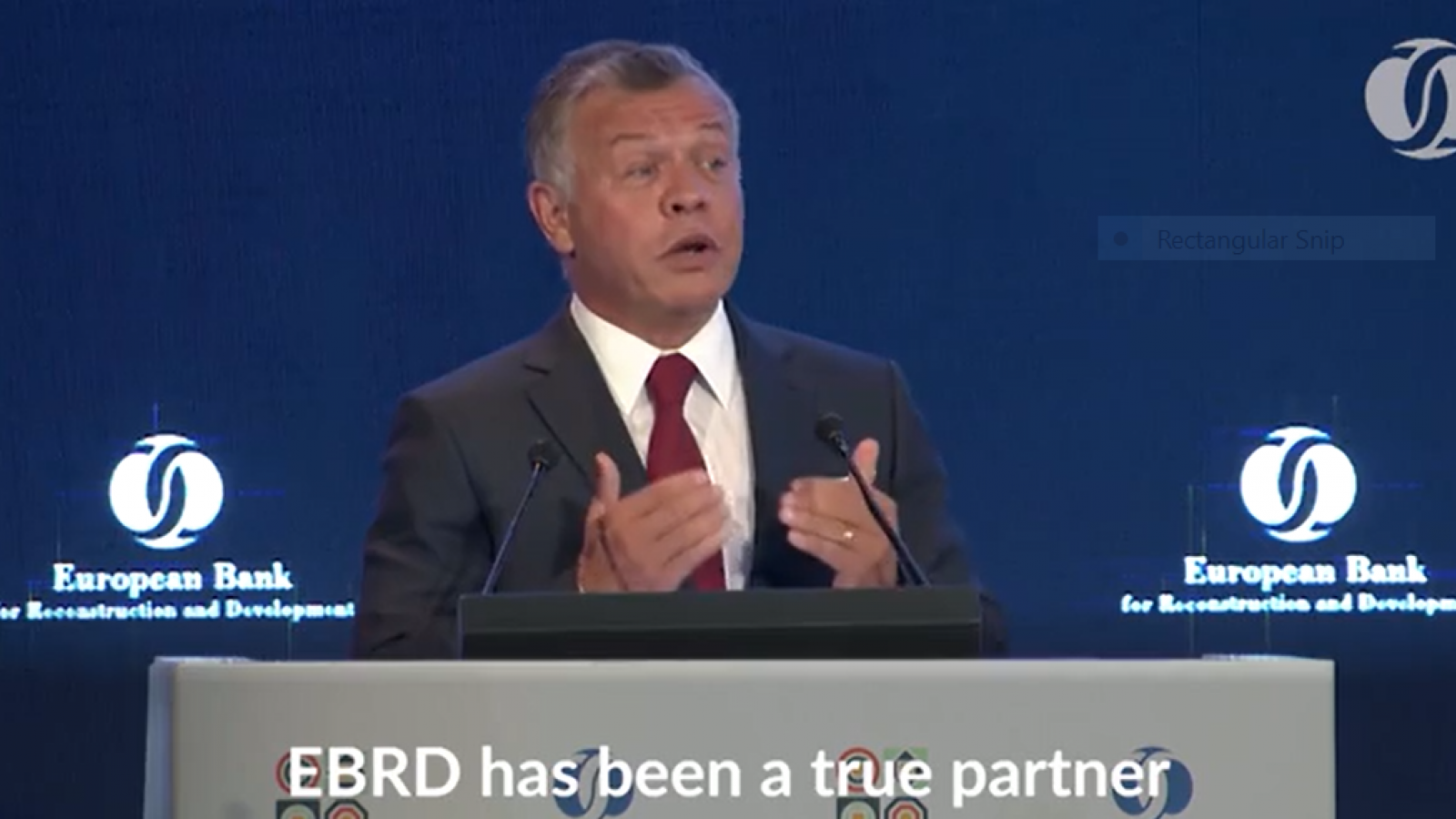 His Majesty King Abdullah II at the EBRD annual 2018 meeting in Jordan