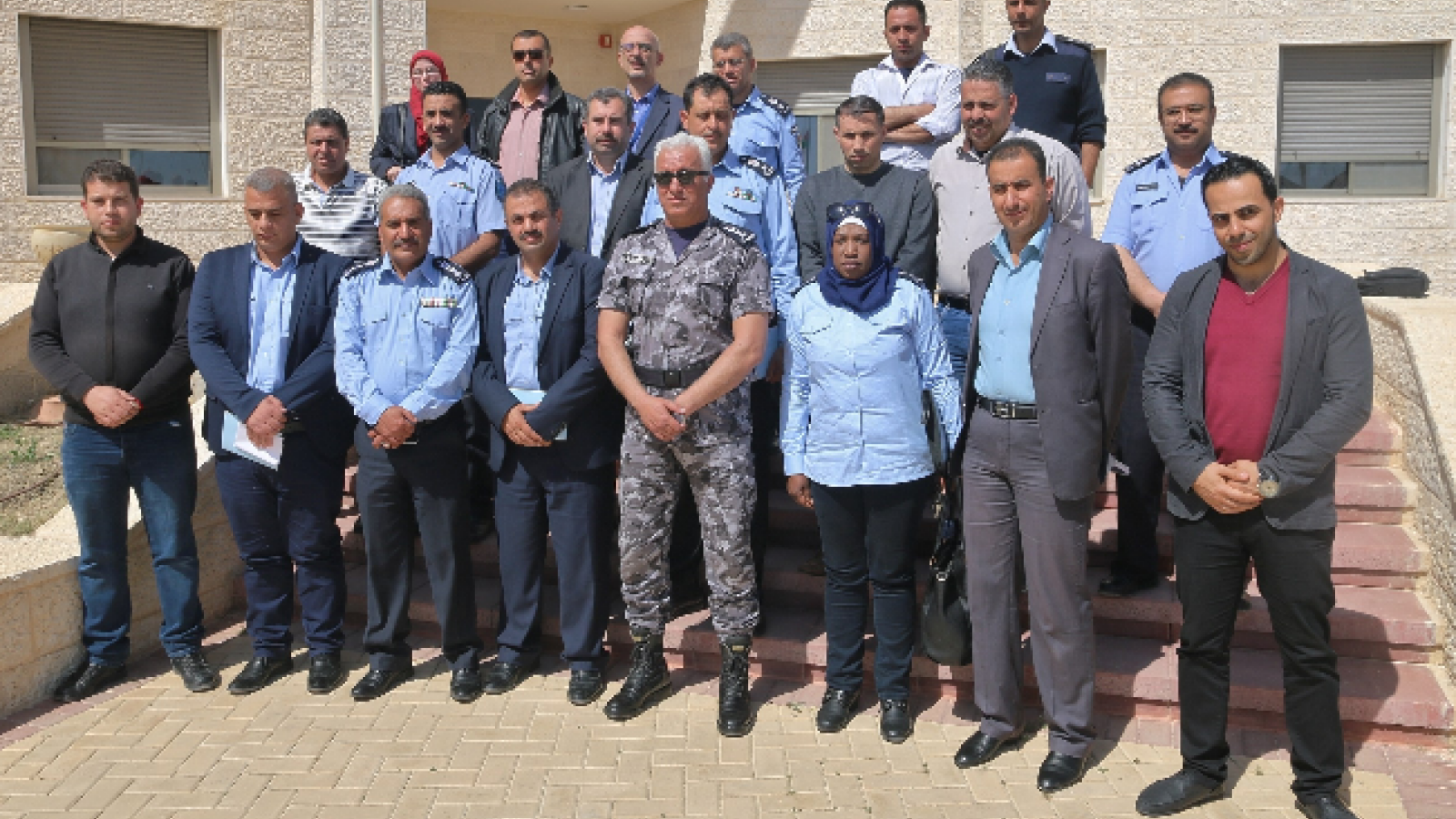Workshop participants with the Chief of the College Colonel Zaher Sabbah