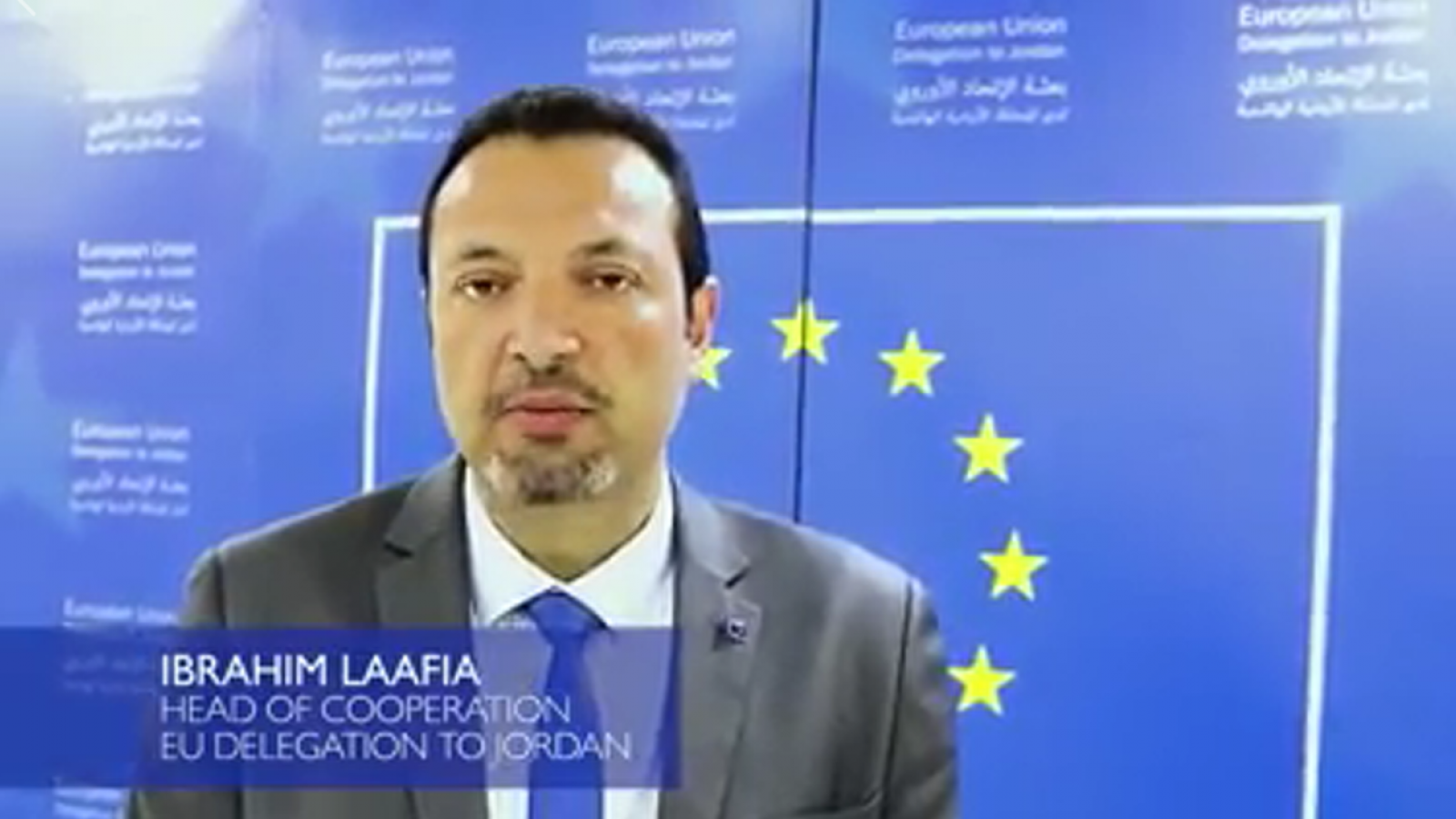 Ibrahim Laafia, Head of Cooperation at the European Delegation in Jordan