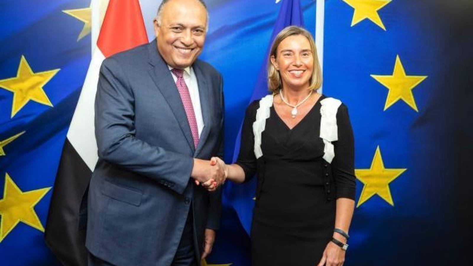 HR/VP Federica Mogherini and Foreign Minister of Egypt Sameh Shoukry