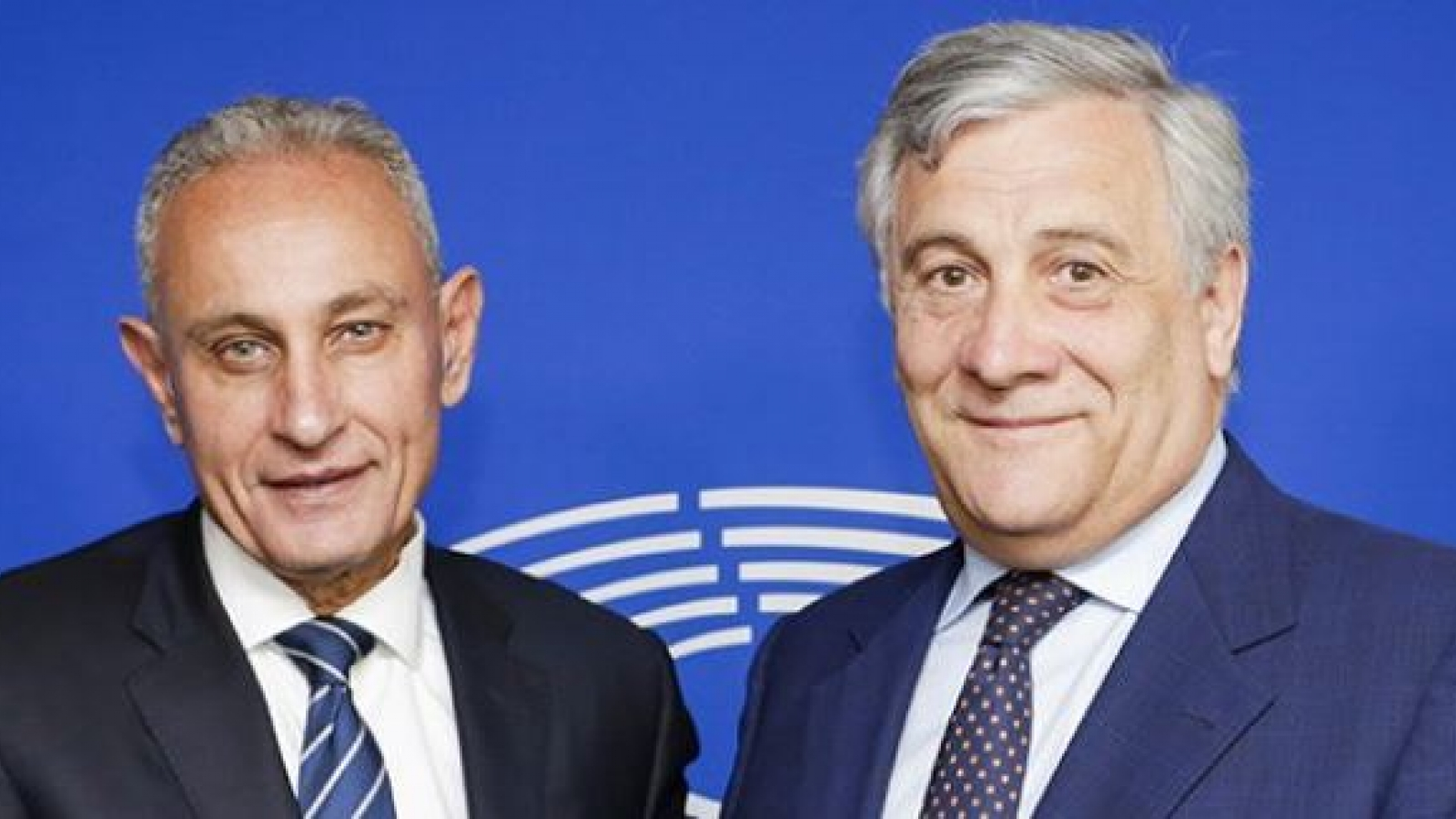 Designated UfM Secretary General Nasser Kamel and European Parliament President Antonio Tajani