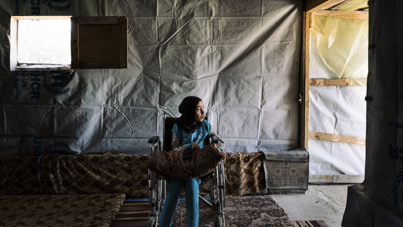 Souhour, a disabled Syrian woman