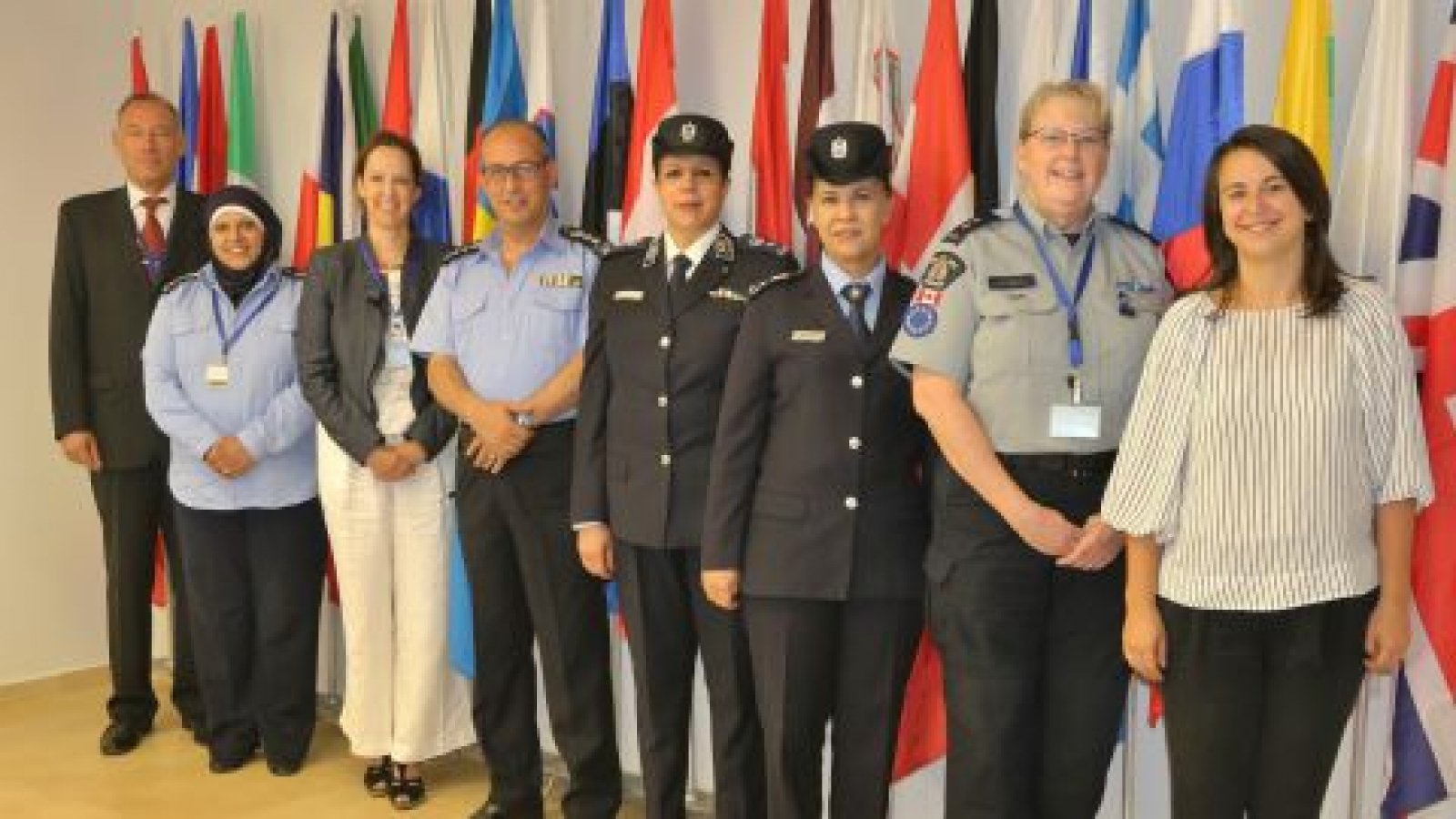 The group of senior women Police Officers and the Head of Mission representatives