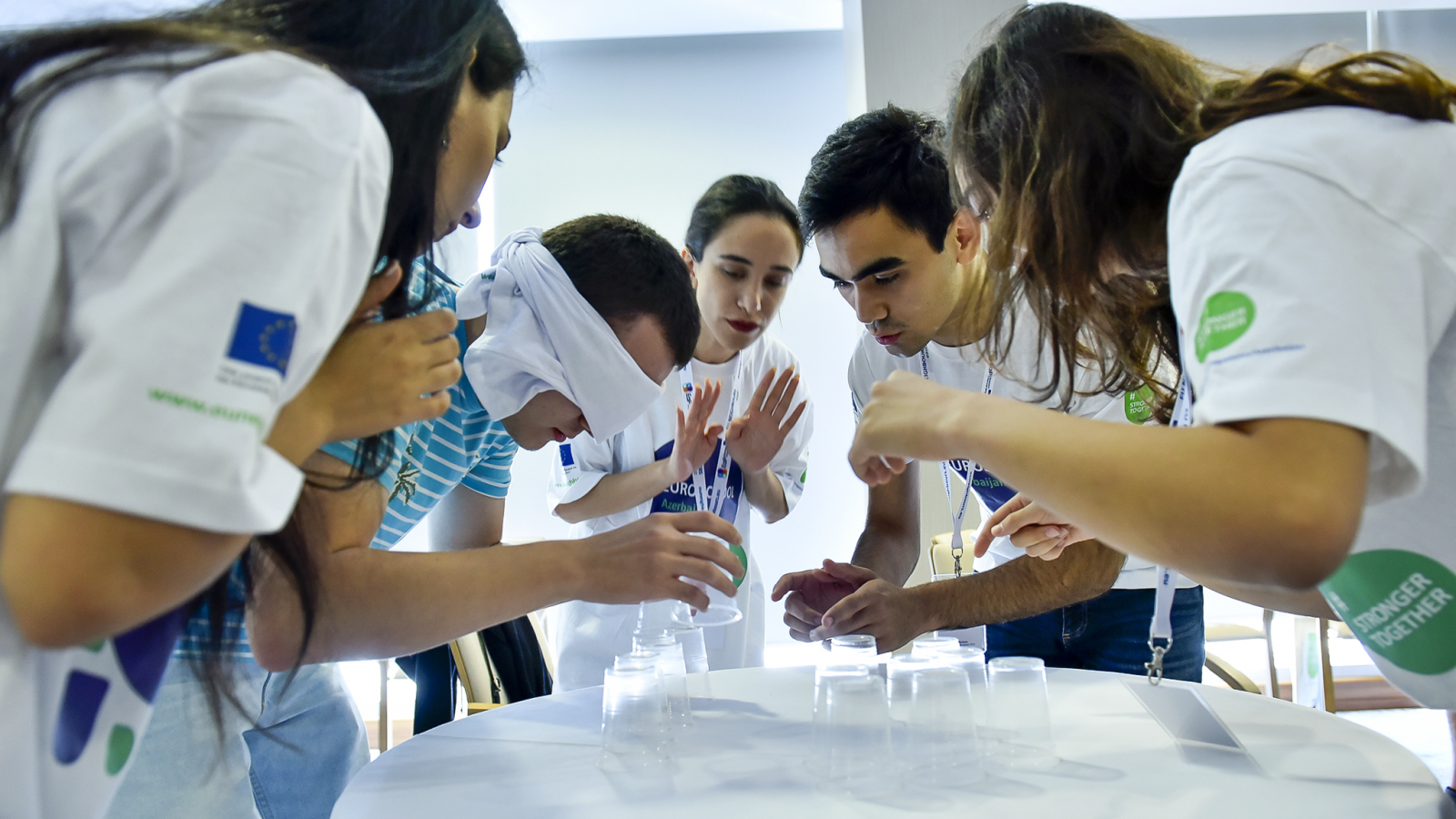 EuroSchool 2018 students participate in an interactive exercise