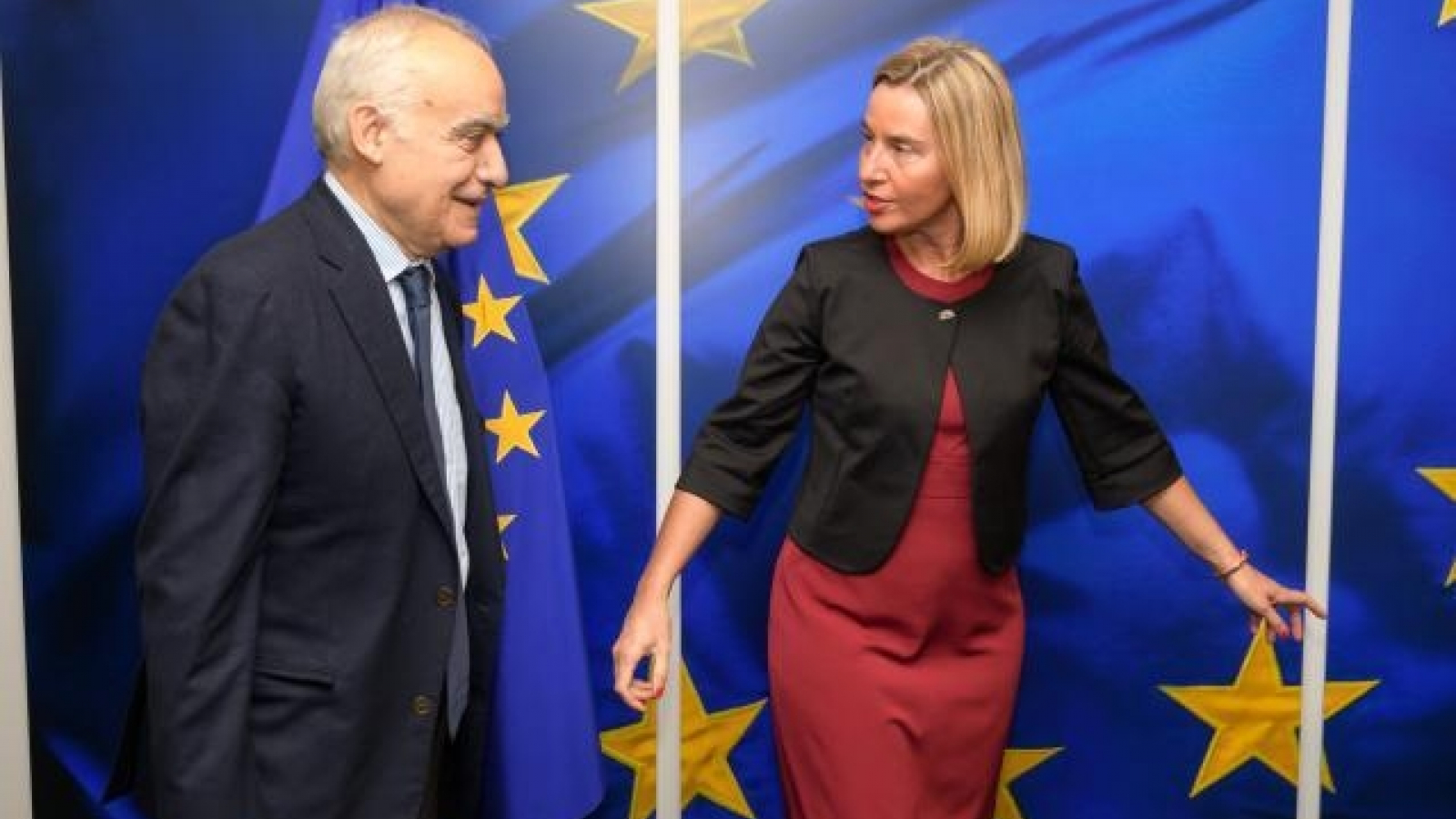 Federica Mogherini, High Representative of the Union for Foreign Affairs and Security Policy and Vice-President of the EC, receives the visit of Ghassan Salamé, Special Representative and Head of the United Nations Support Mission in Libya (UNSMIL), in Brussels