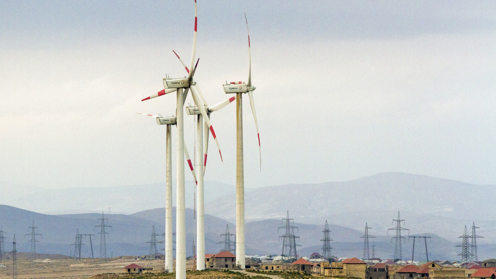 """Yeni Yashma"" wind farm in Baku."