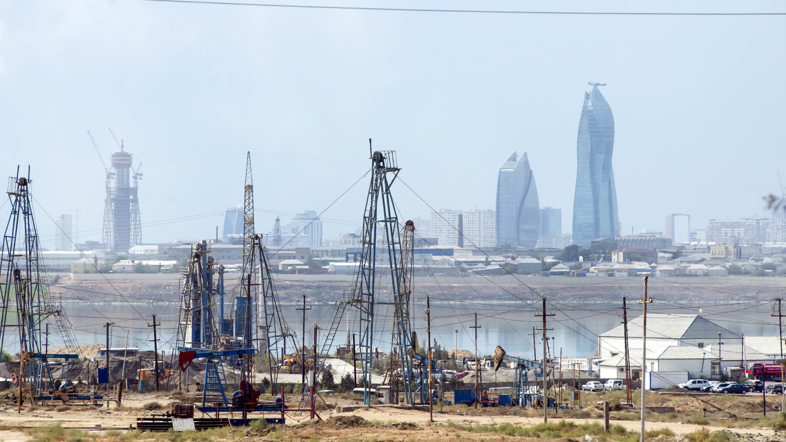 Baku city view from Balakhani village.