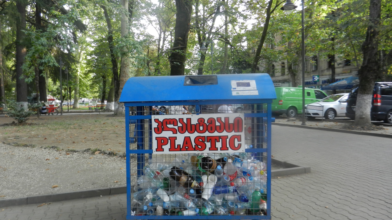 Containers for plastic waste collection provided to Kutaisi city within EU-support project