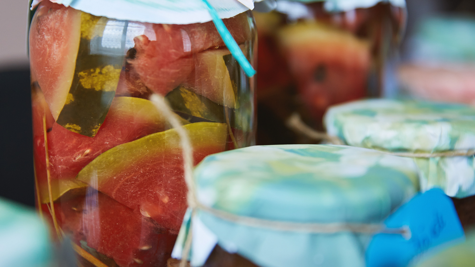 Alina Daraban produces melon and watermelon preserves, as well as jams, juices and salads