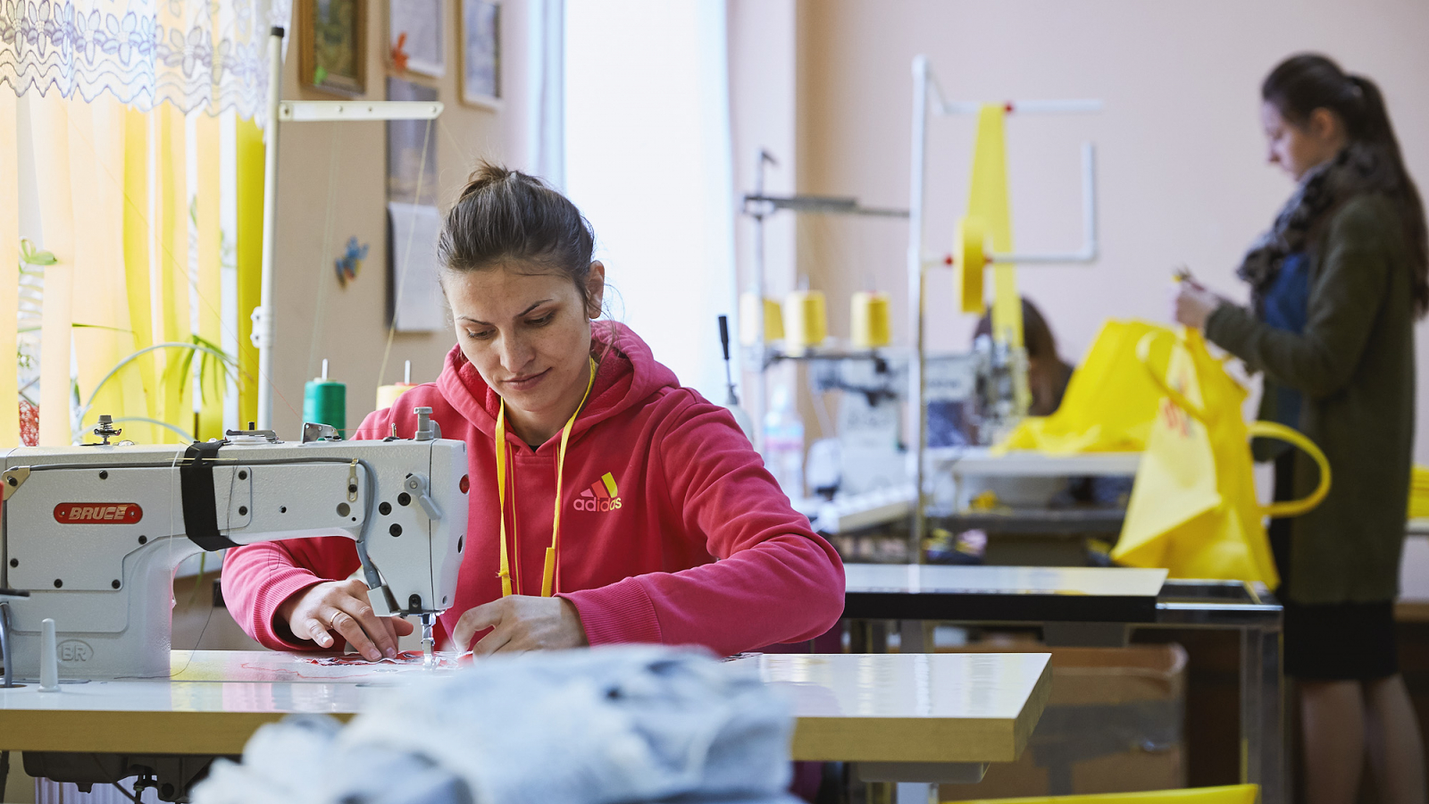 Lidia Birsanu's business grew from a simple clothing repair workshop
