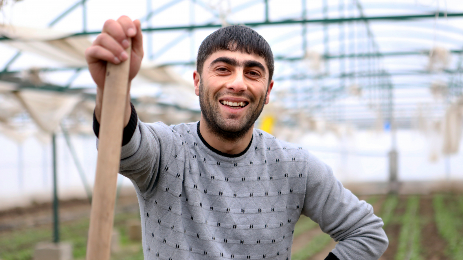 Gagik, a worker at the Geghamasar cooperative