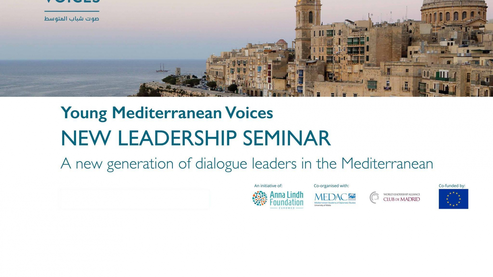 Call for participation to Young Mediterranean Voices New Leadership Seminar