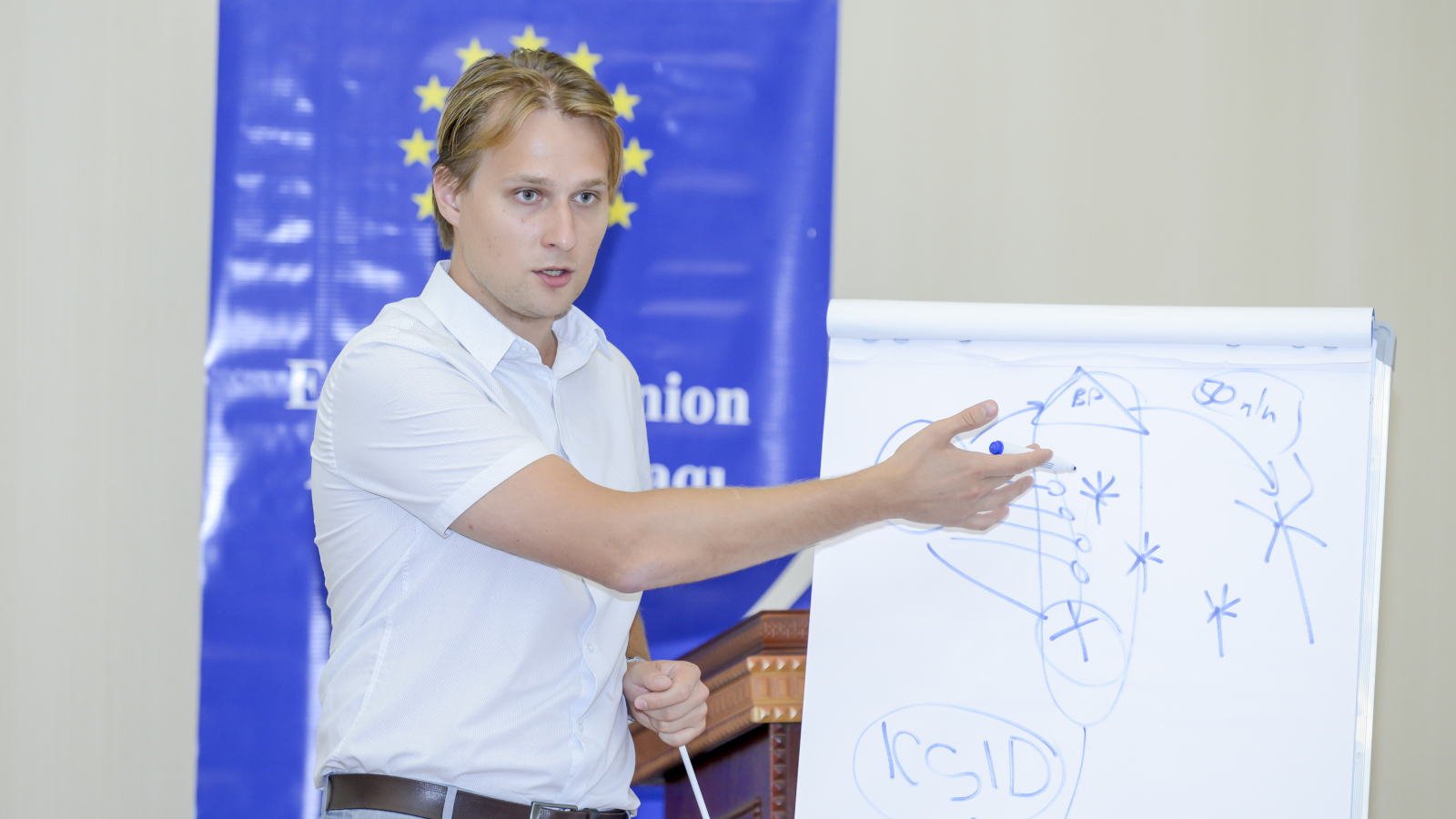 EU4Energy trainer Vitali Hiarlouski during the EuroSchool in Azerbaijan