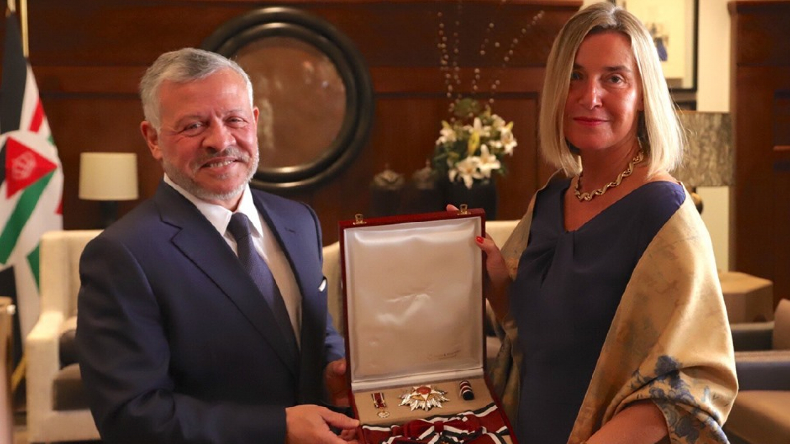 European Union HR/VP Federica Mogherini decorated in Amman