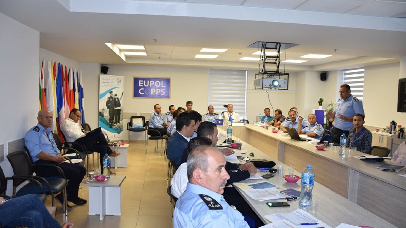 Workshops for Palestinian police officers