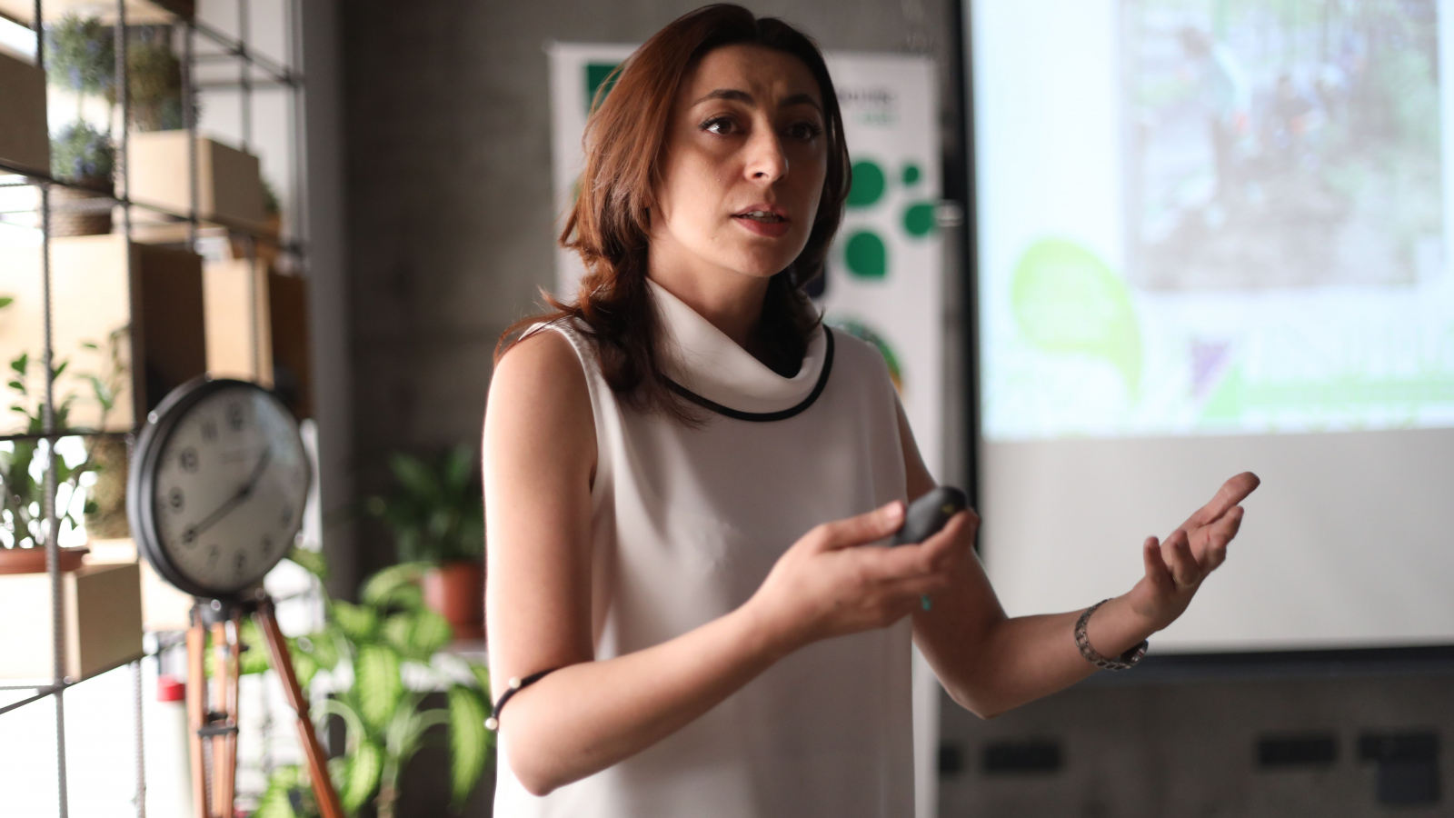Lilit Sahakyan at the project presentation in Yerevan on 4 October 2019