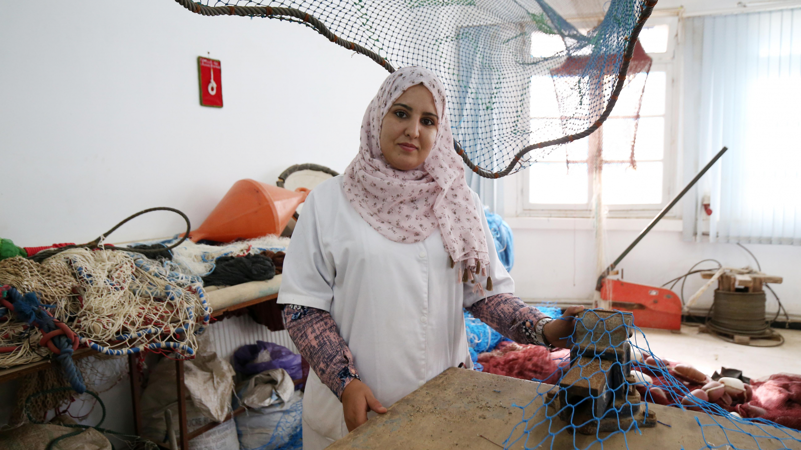 Bouchra Salah, trainer at Cherchell Fisheries and Aquaculture Technical Training School