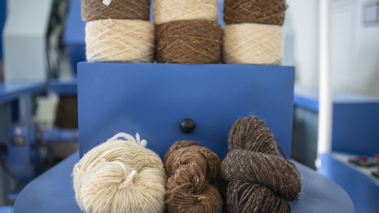 Wool thread produced at Amasia Wool Factory