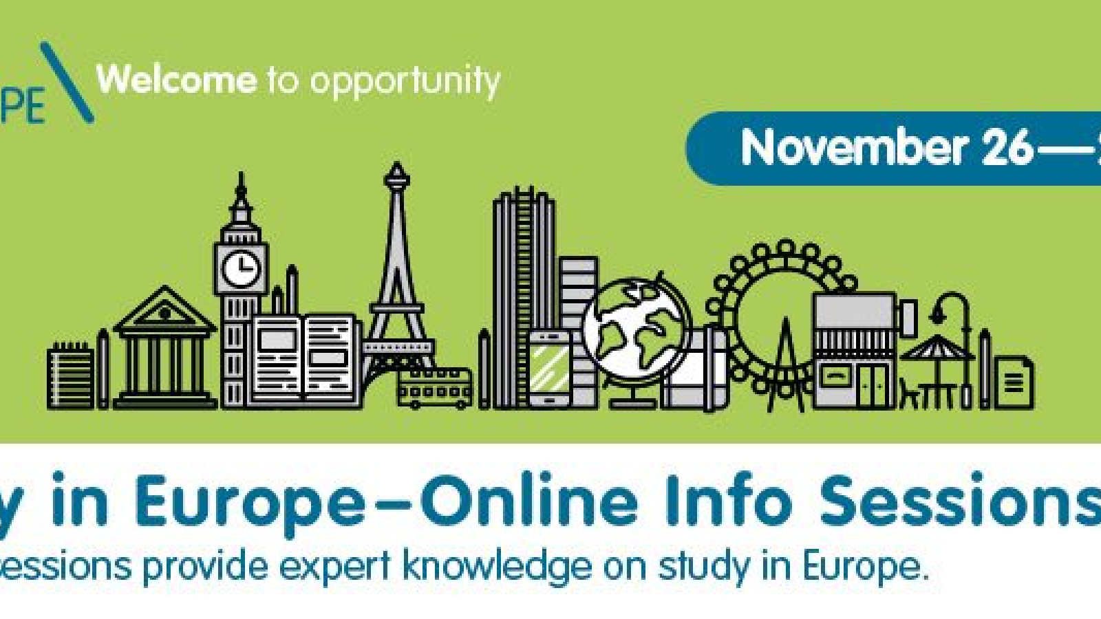 Study in Europe Webinar Series Africa 2019: join the online info sessions to learn about study options in Europe