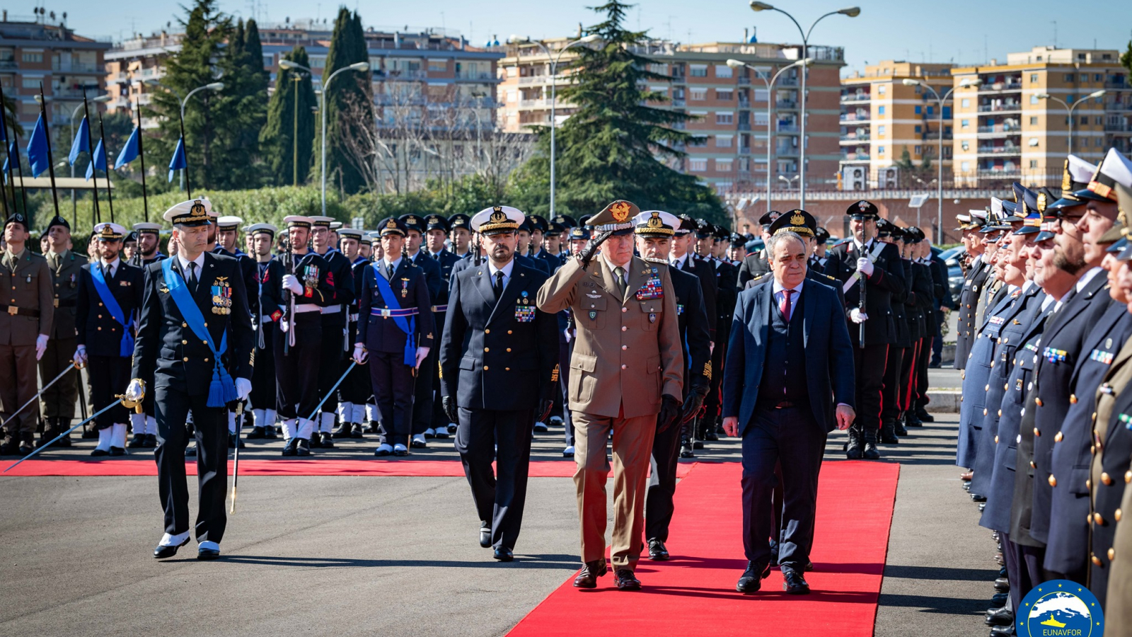 "Farewell to Vice Admiral CREDENDINO, Operational Commander of Operation EUNAVFOR MED ""SOPHIA"""