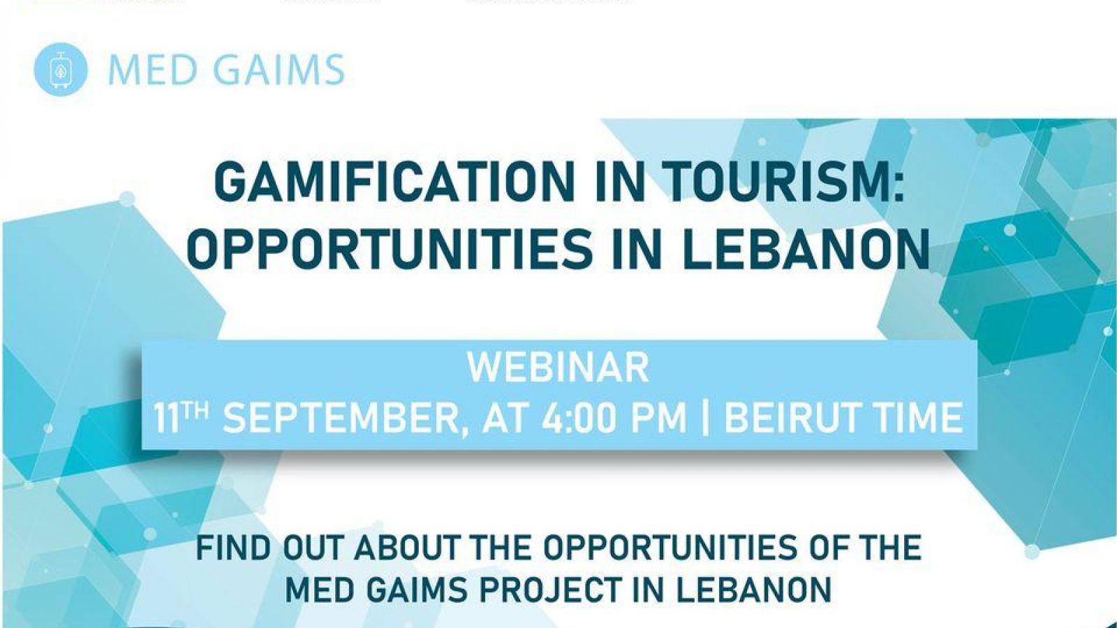 EU-funded MED GAIMS: webinar on grant opportunities to gamify tourism in Lebanon