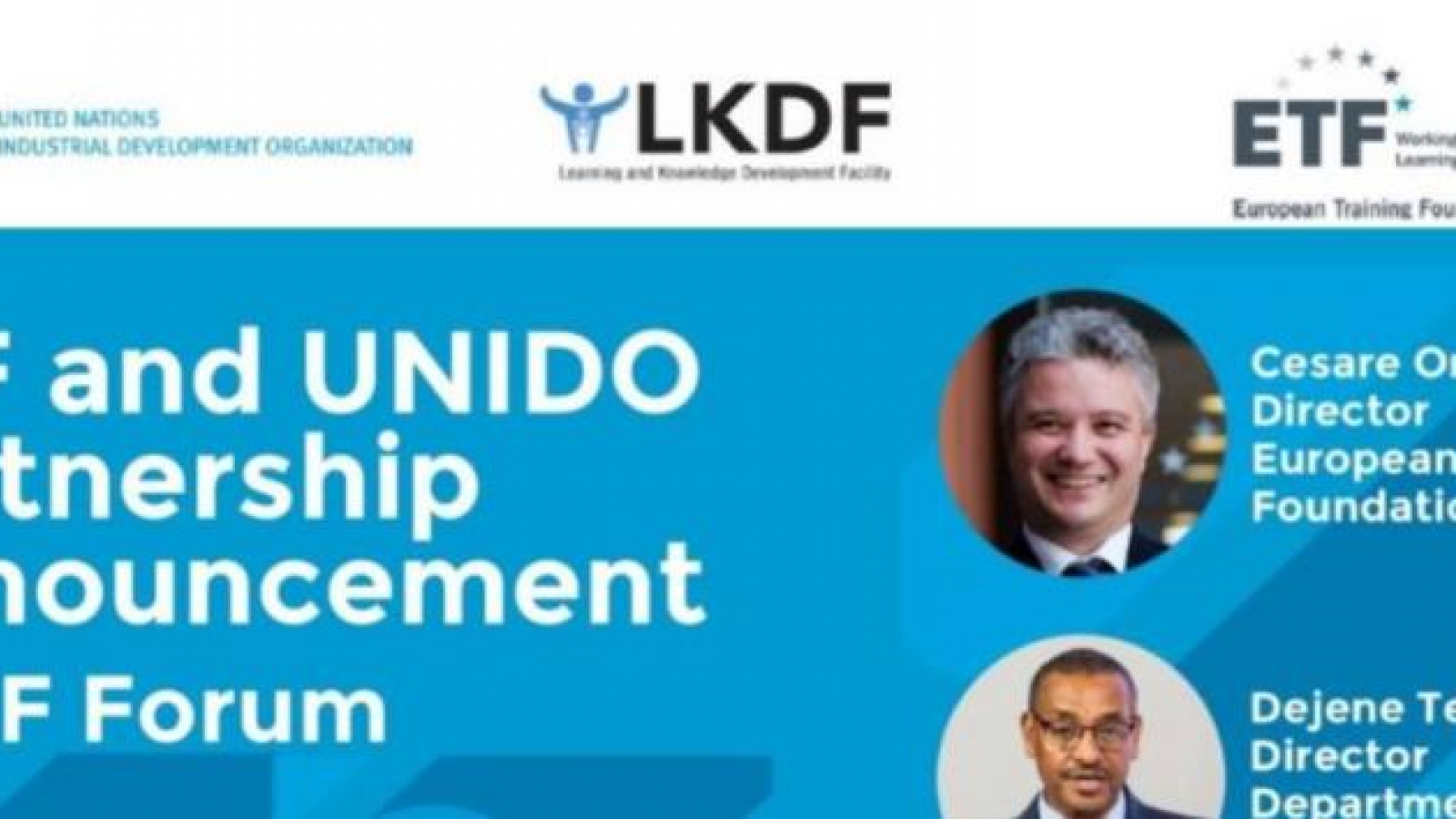 European Training Foundation and United Nations Industrial Development Organization formalise partnership to promote green skills and sustainable development