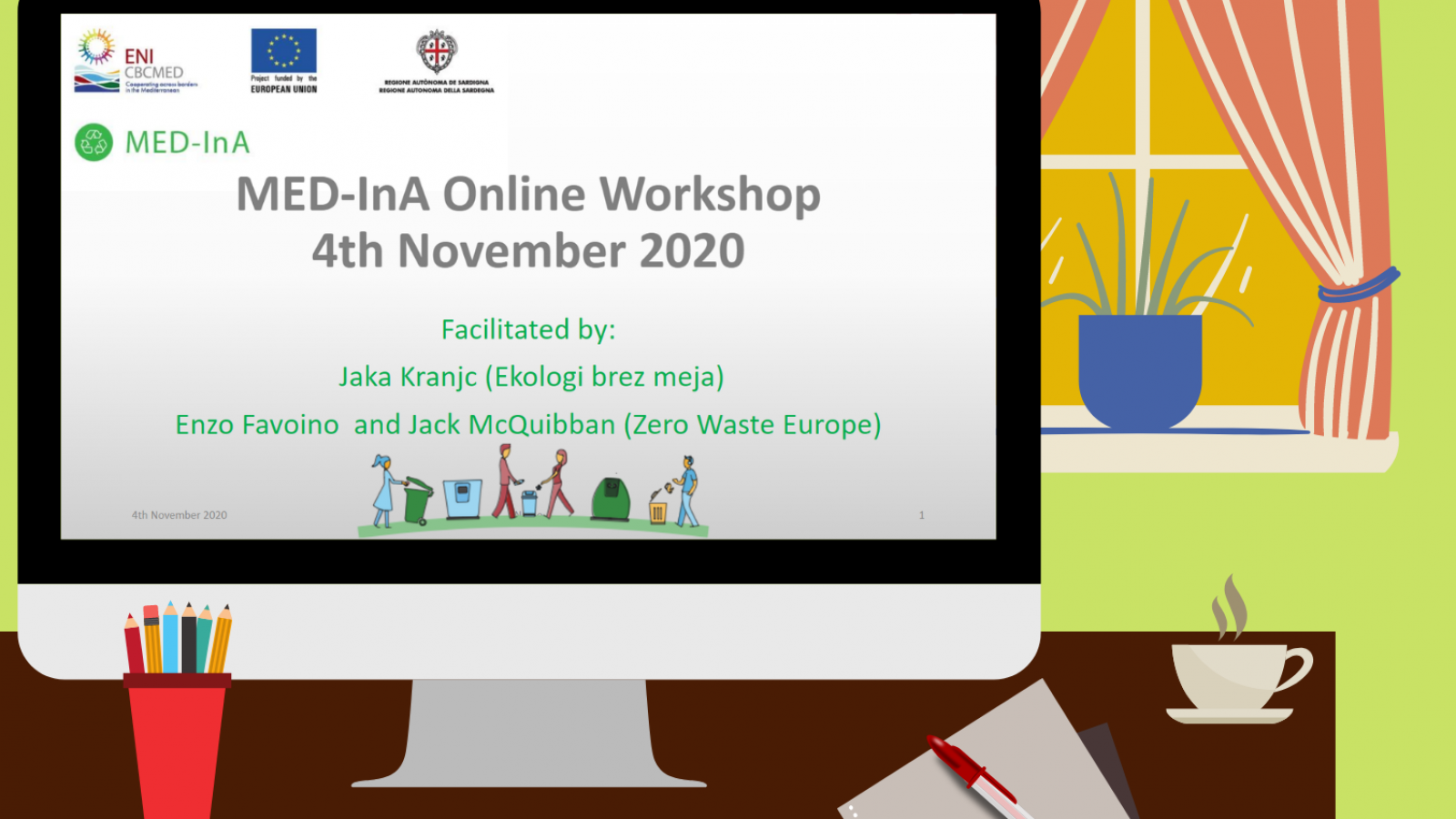 EU-funded MED-InA project holds second Zero Waste Workshop for Mediterranean cities