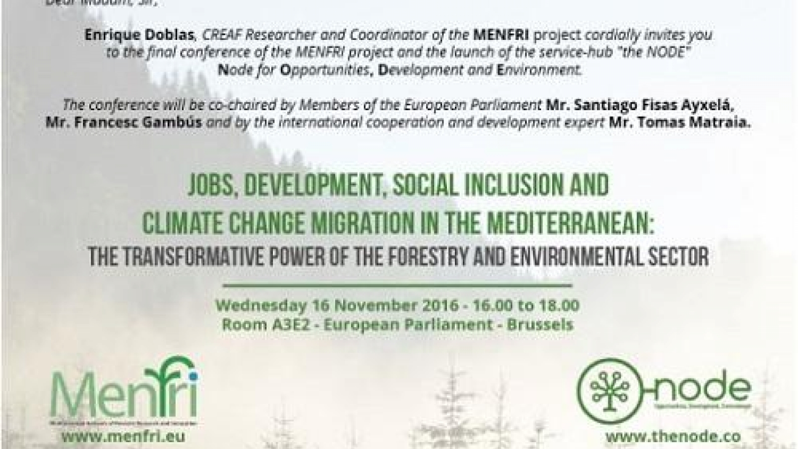 Mediterranean Forest Research Project Concludes With Launch Of Node For Opportunities Development And Environment