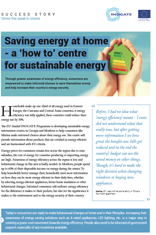 Inogate success story -saving energy at home